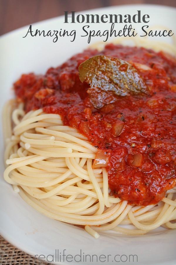 Simple Spaghetti Sauce Recipe  easy meatless spaghetti sauce
