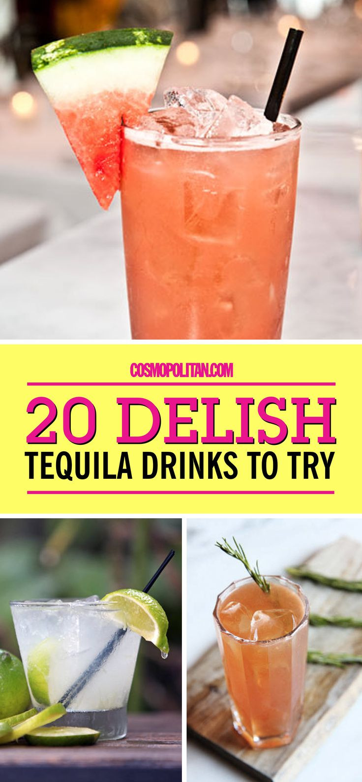 Simple Tequila Mixed Drinks  Easy tequila mixed drink recipes Food easy recipes