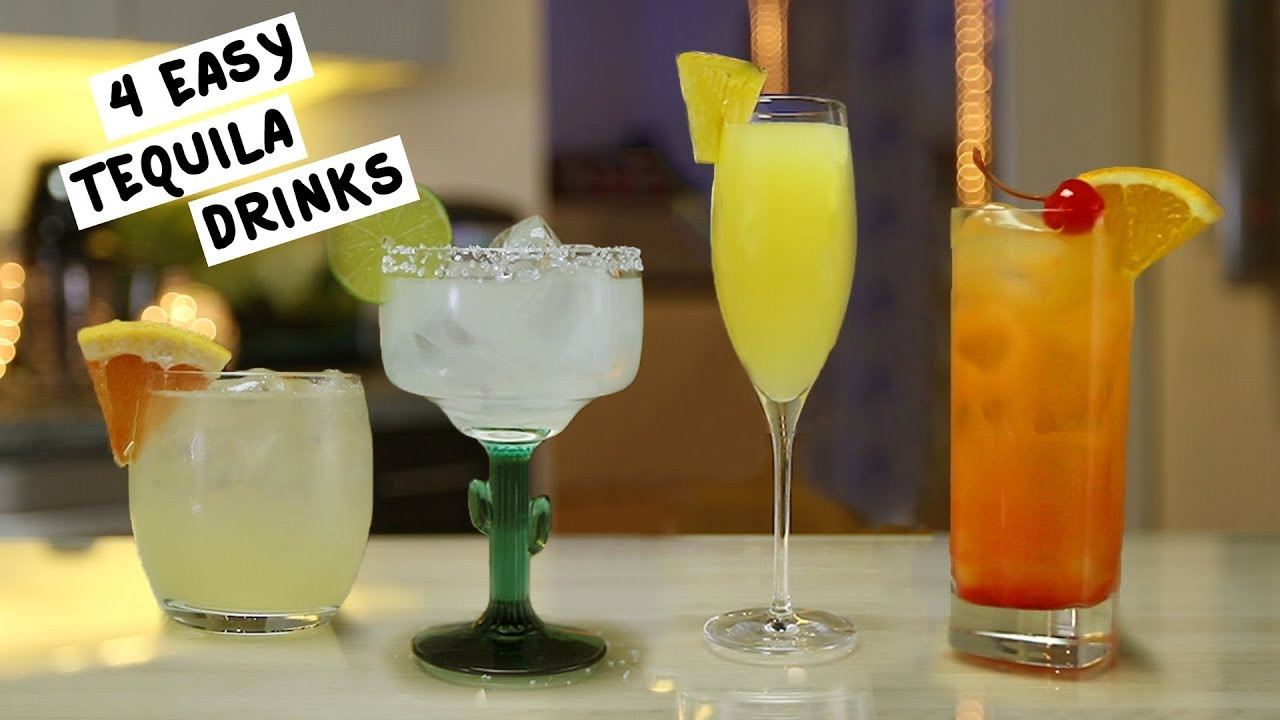Simple Tequila Mixed Drinks  Four Easy Tequila Drinks