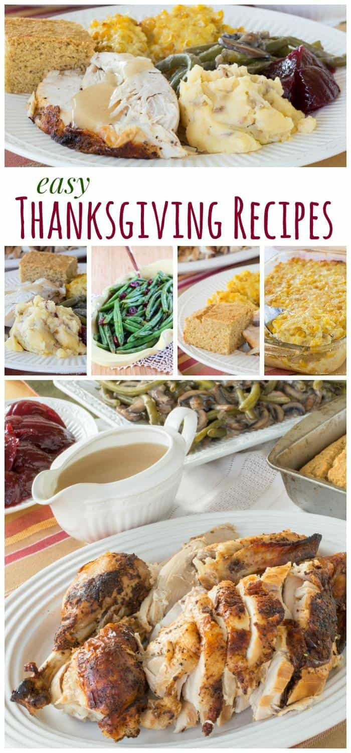 Simple Thanksgiving Dinners  Easy Thanksgiving Recipes Cupcakes & Kale Chips