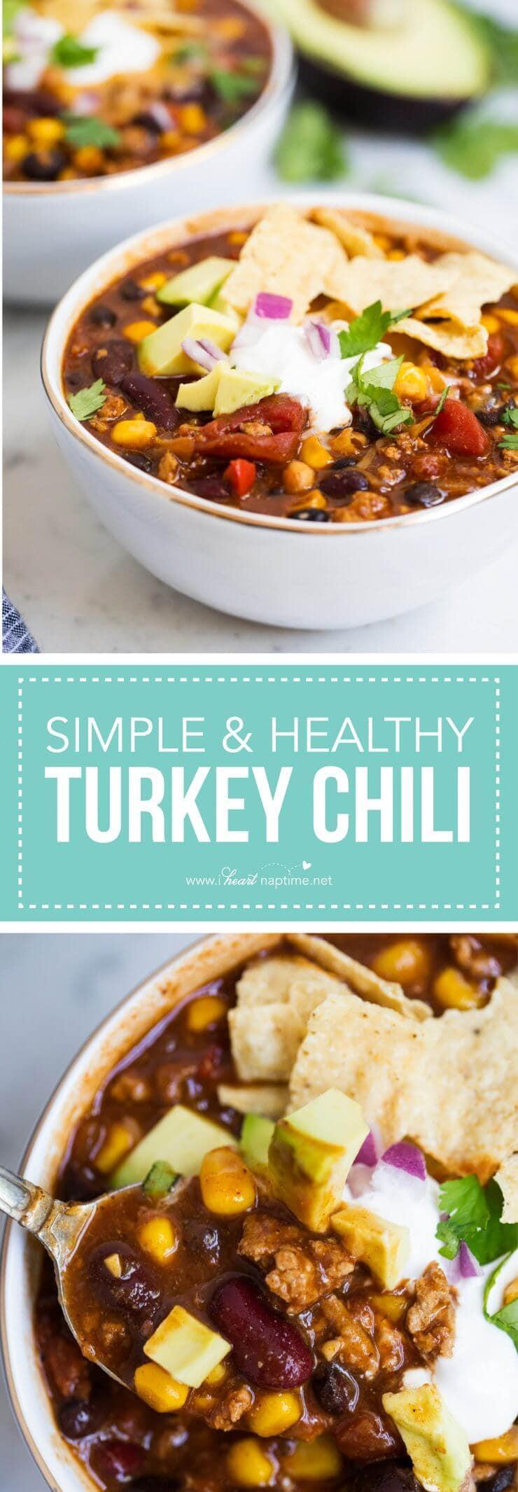 Simple Turkey Chili  real simple turkey chili recipe
