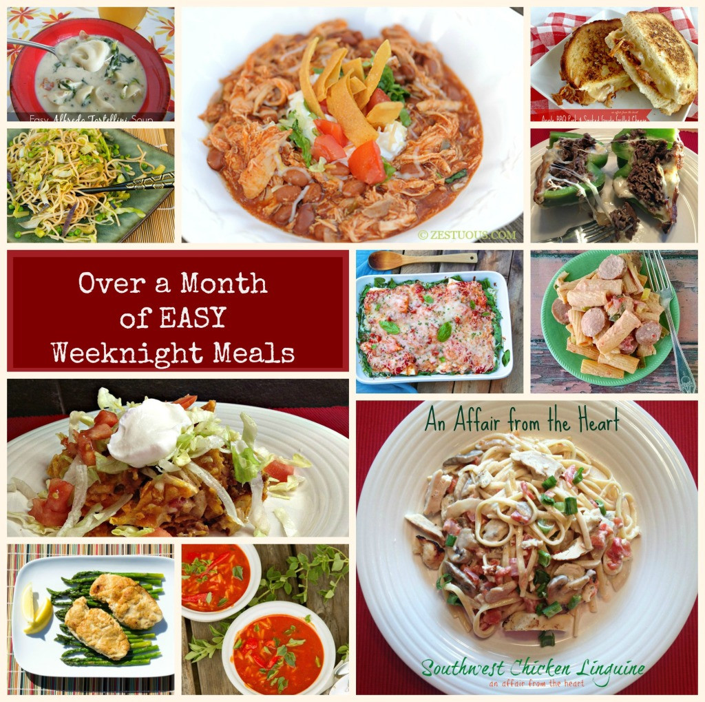 Simple Weeknight Dinners  Over a Month s Worth of EASY Weeknight Recipes
