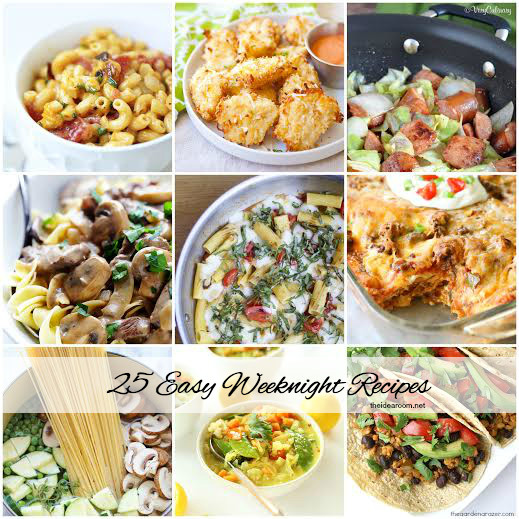 Simple Weeknight Dinners  Easy Weeknight Dinner Recipes The Idea Room