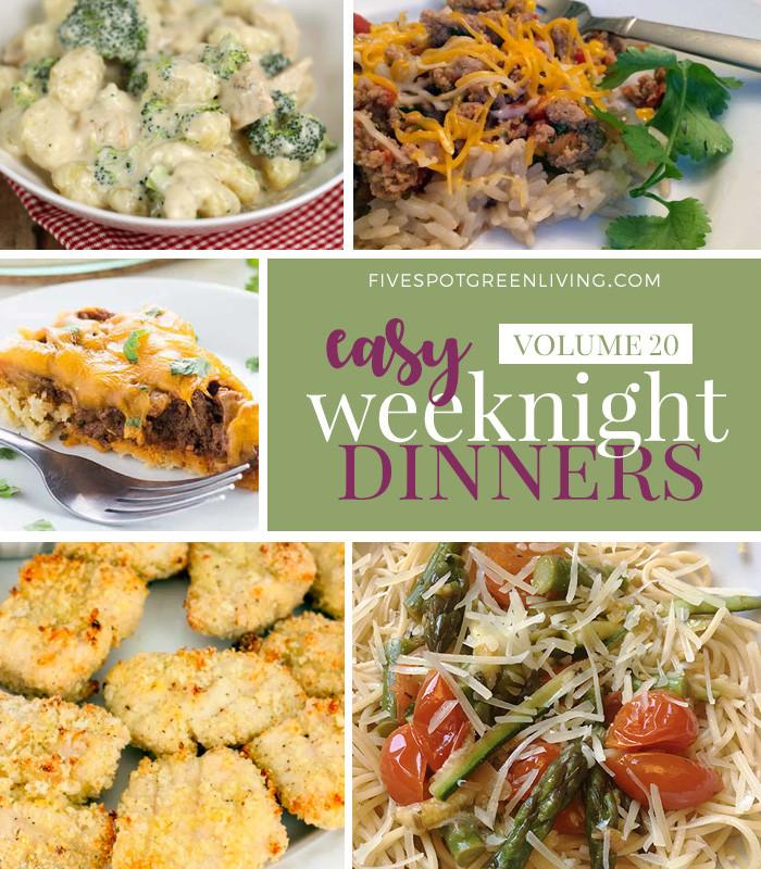 Simple Weeknight Dinners  Easy Weeknight Dinners Meal Plan Volume 20 Five Spot
