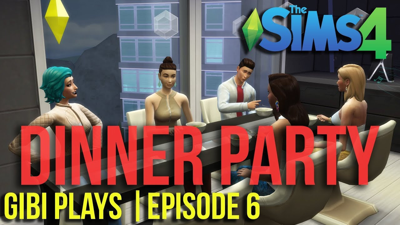Sims 4 Dinner Party  Gibi Plays