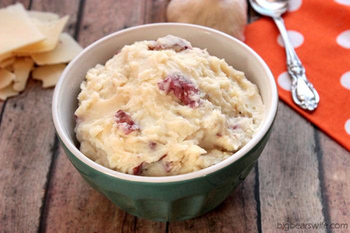 Skin On Mashed Potato  Garlic Parmesan Red Skin Mashed Potatoes Big Bear s Wife