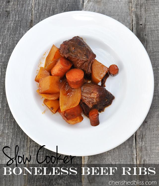 Slow Cooker Boneless Beef Ribs  40 Crockpot Dinner Ideas