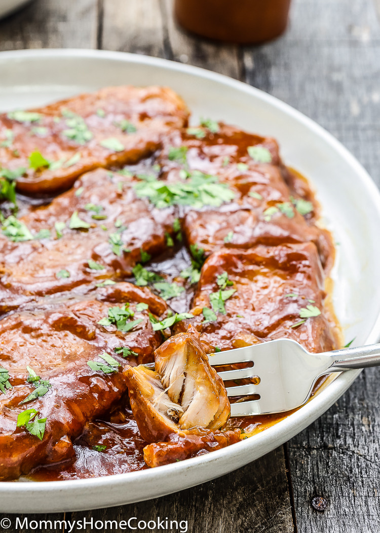 Slow Cooker Boneless Pork Chops  Slow Cooker Honey Garlic Pork Chops Mommy s Home Cooking