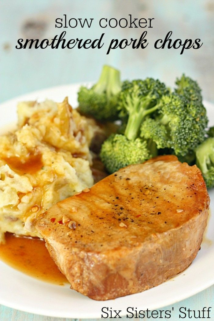 Slow Cooker Boneless Pork Chops  Slow Cooker Smothered San Francisco Pork Chops Recipe