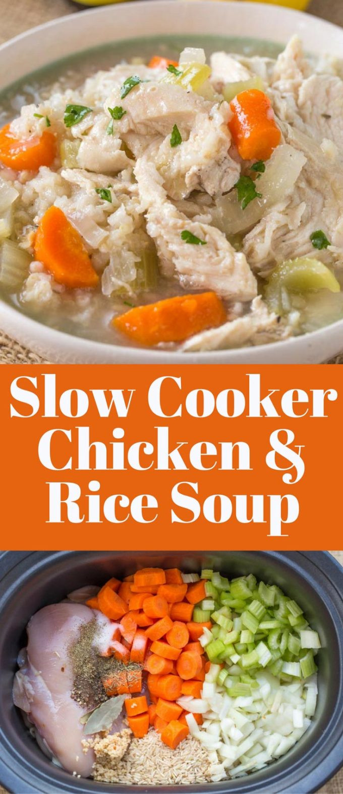 Slow Cooker Brown Rice  chicken and brown rice soup slow cooker