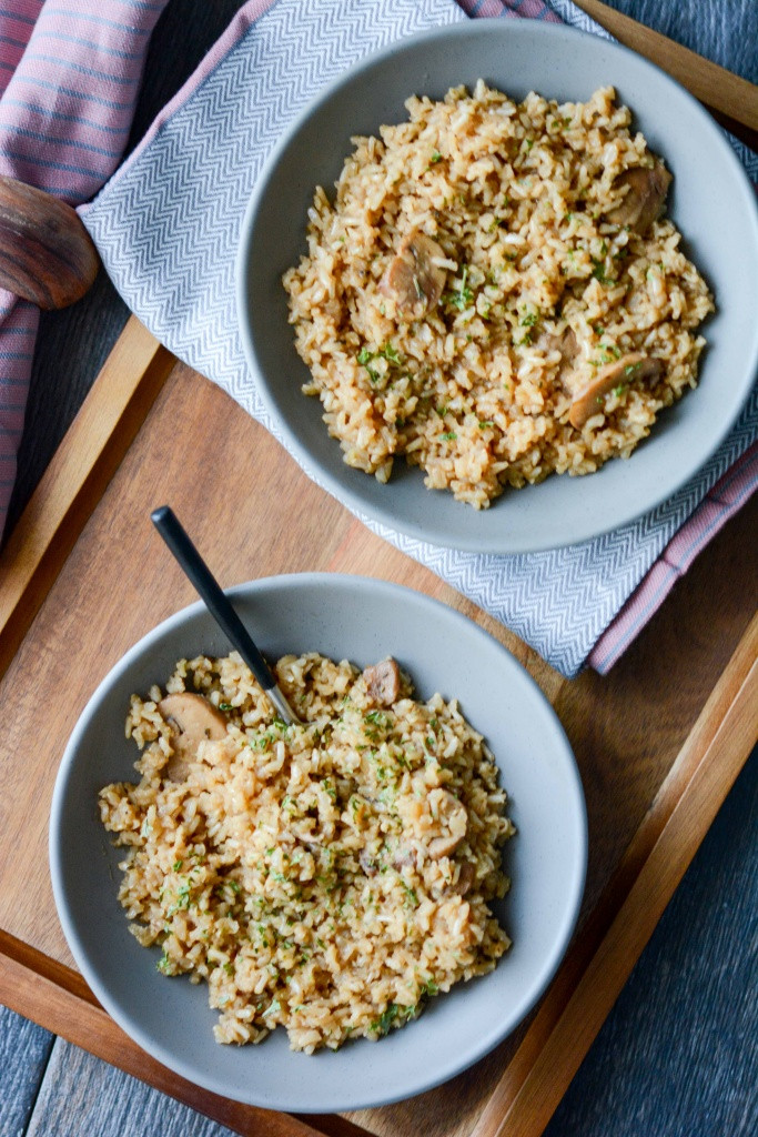 Slow Cooker Brown Rice  Slow Cooker Rustic Herbed Brown Rice