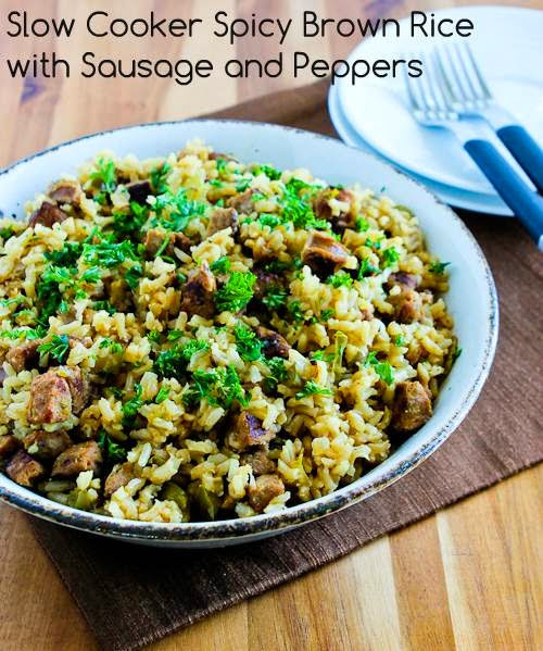 Slow Cooker Brown Rice  Kalyn s Kitchen Slow Cooker Spicy Brown Rice with