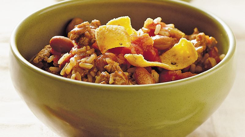 Slow Cooker Brown Rice  Slow Cooker Turkey and Brown Rice Chili recipe from Betty