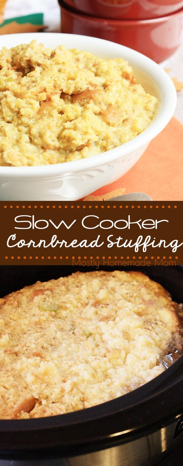 Slow Cooker Cornbread  Slow Cooker Cornbread Stuffing