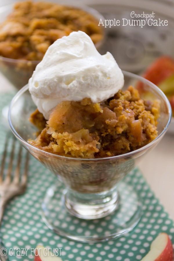 Slow Cooker Desserts Using Cake Mixes  Crockpot Apple Dump Cake Crazy for Crust