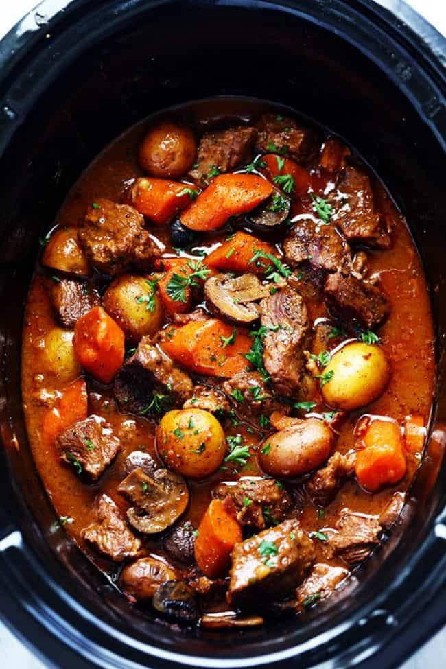 Slow Cooker Lamb Stew  Slow Cooker Beef Bourguignon