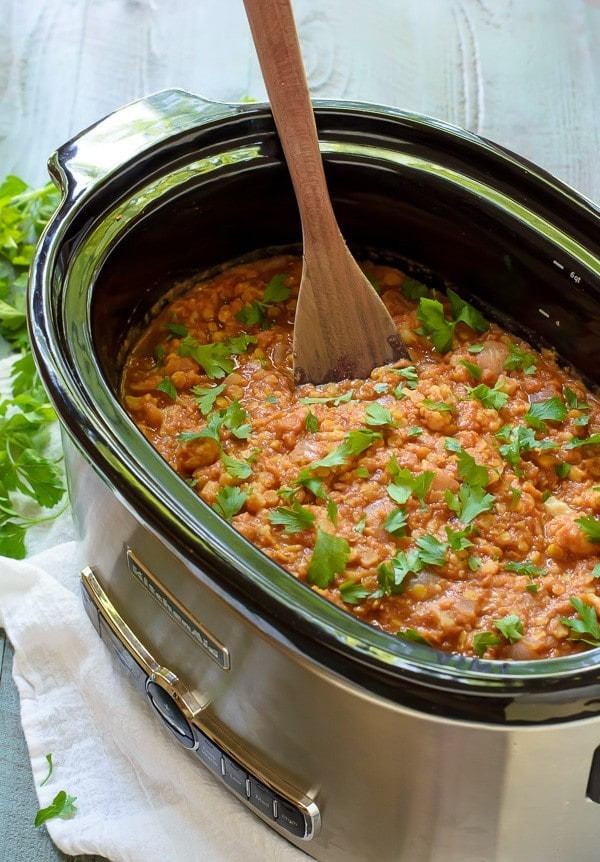 Slow Cooker Lentil Recipes  Slow Cooker Red Lentil Cauliflower Curry