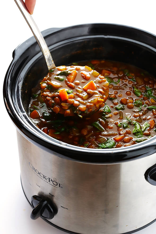 Slow Cooker Lentil Recipes  Slow Cooker Curried Lentil Soup