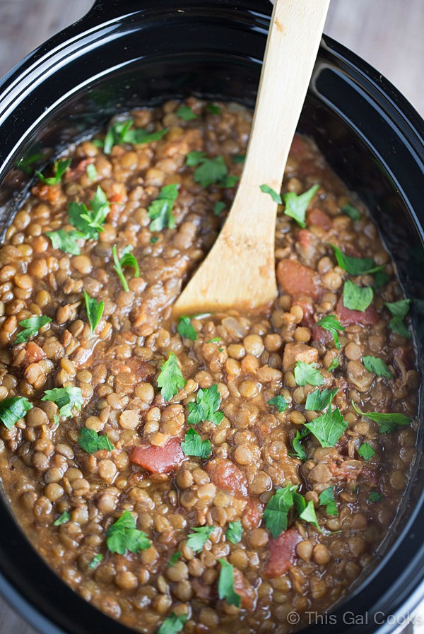 Slow Cooker Lentil Recipes  Slow Cooker Moroccan Lentil Soup