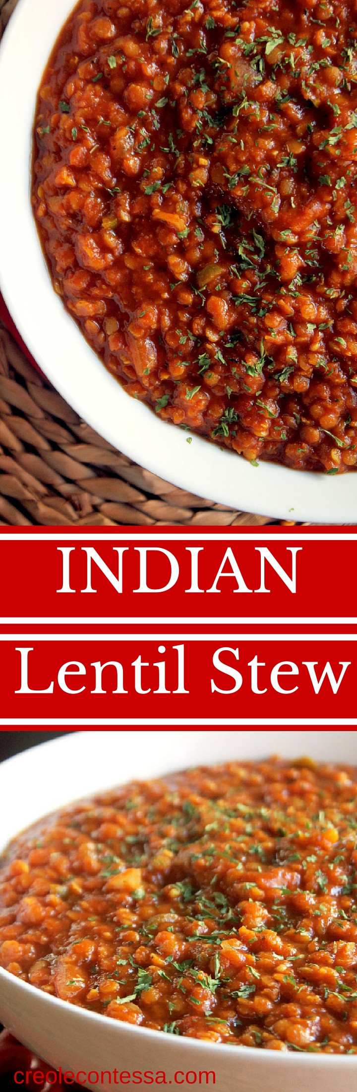 Slow Cooker Lentil Recipes  Slow Cooker Indian Lentil Stew Creole Contessa