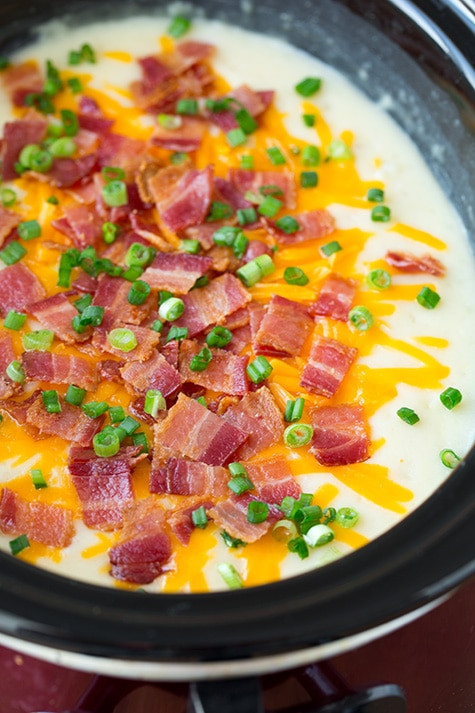 Slow Cooker Loaded Potato Soup  Slow Cooker Loaded Potato Soup Cooking Classy