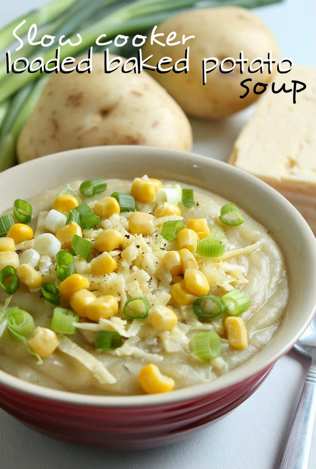 Slow Cooker Loaded Potato Soup  Slow Cooker from Scratch Slow Cooker Ve arian Loaded