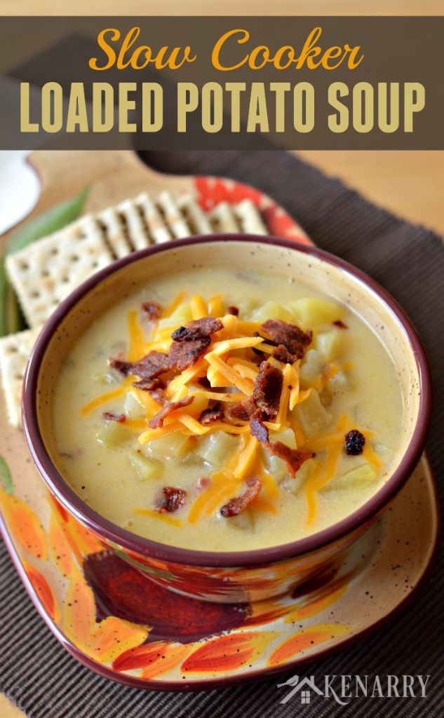 Slow Cooker Loaded Potato Soup  Slow Cooker Loaded Potato Soup Belle of the Kitchen