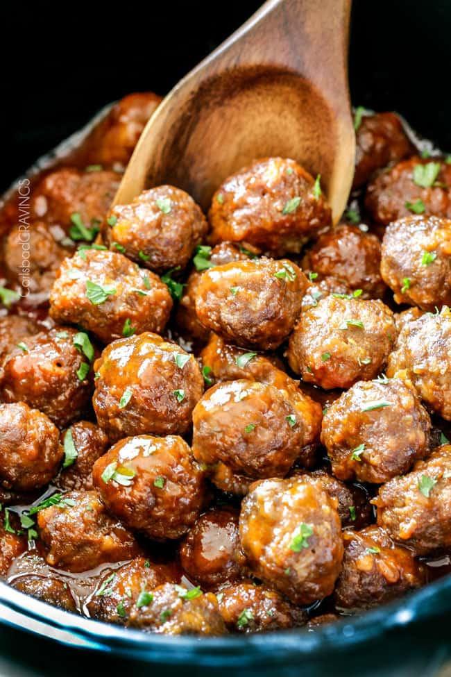 Slow Cooker Meatball Appetizer  Slow Cooker Honey Buffalo Meatballs