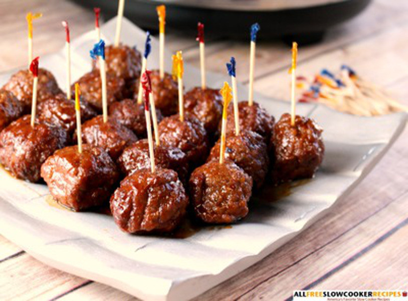 Slow Cooker Meatball Appetizer  Slow Cooker Party Meatballs