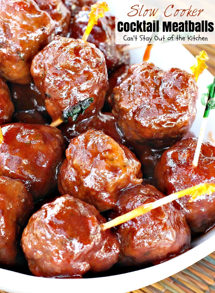 Slow Cooker Meatball Appetizer  Slow Cooker Cocktail Meatballs Can t Stay Out of the Kitchen