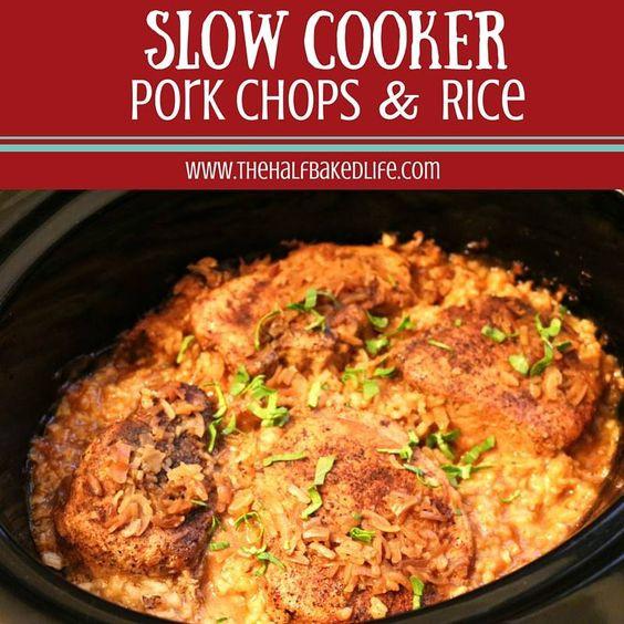 Slow Cooker Pork Chops And Rice  Slow cooker pork Pork chops and Pork on Pinterest