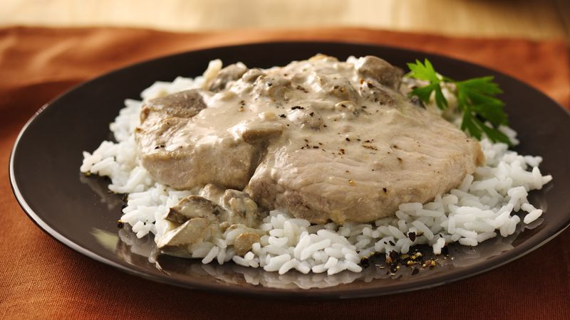 Slow Cooker Pork Chops And Rice  Slow Cooker Pork Chops recipe from Tablespoon