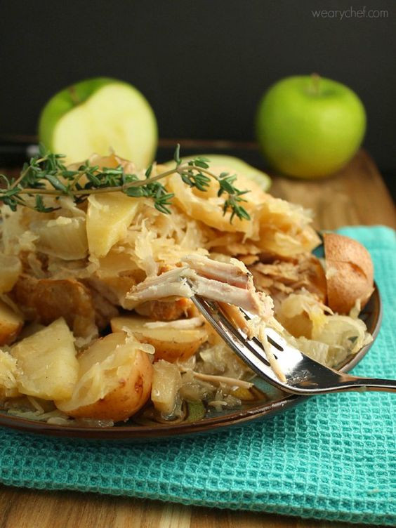 Slow Cooker Pork Chops With Apples  Slow Cooker Pork Chops with Sauerkraut Apples and