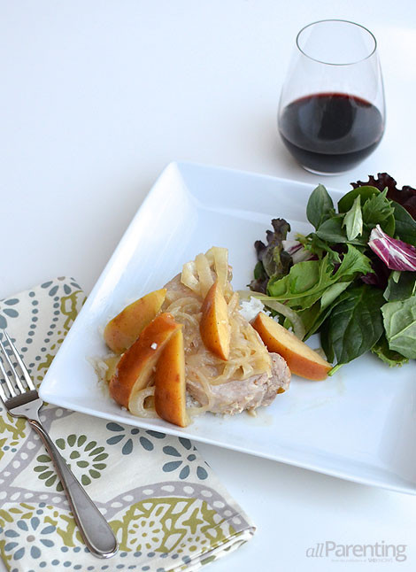 Slow Cooker Pork Chops With Apples  Slow cooker pork chops with apples and mustard sauce