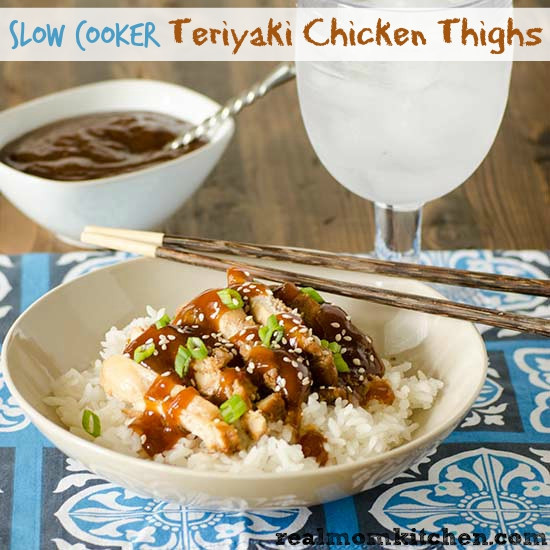 Slow Cooker Teriyaki Chicken Thighs  Slow Cooker Teriyaki Chicken Thighs