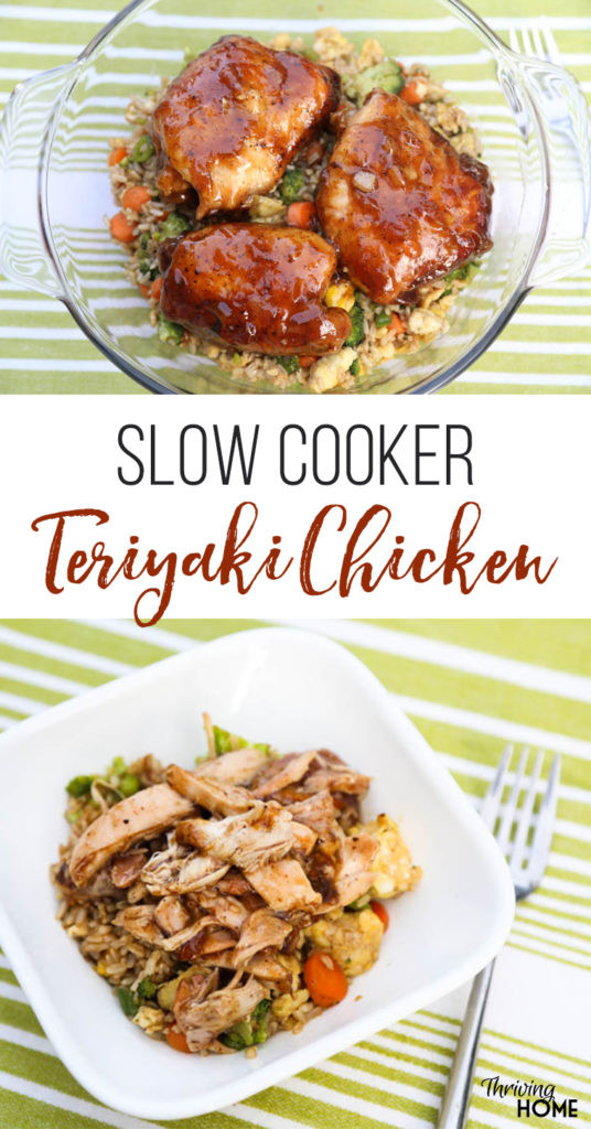 Slow Cooker Teriyaki Chicken Thighs  Slow Cooker Teriyaki Chicken Freezer Meal