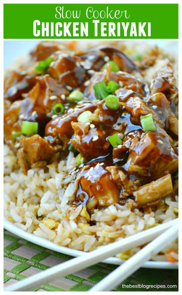 Slow Cooker Teriyaki Chicken Thighs  chicken teriyaki slow cooker