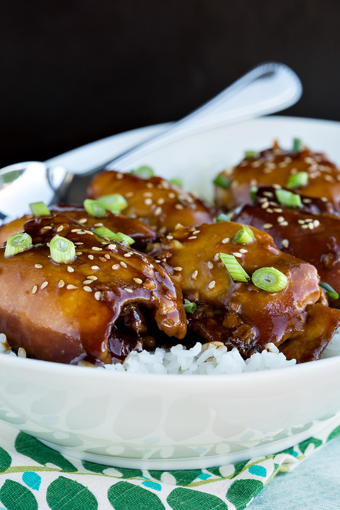 Slow Cooker Teriyaki Chicken Thighs  Slow Cooker Chicken Teriyaki Maria Jung
