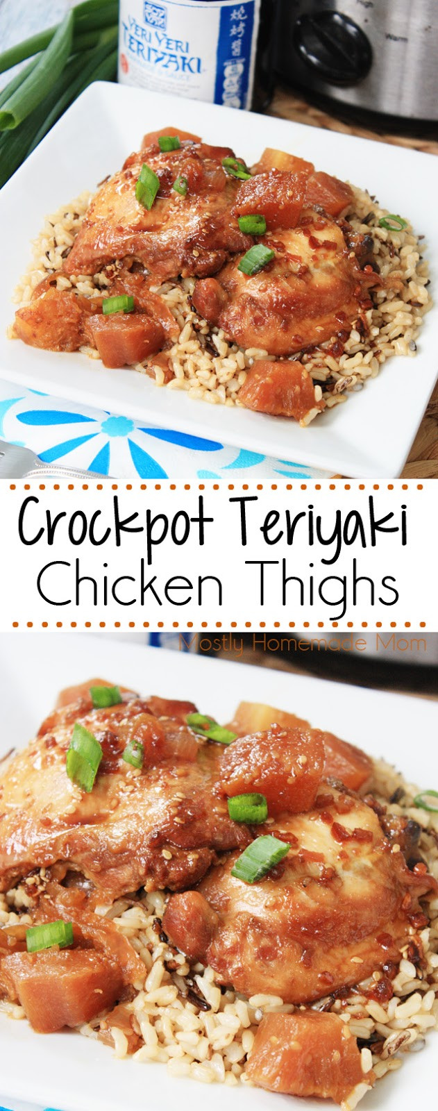 Slow Cooker Teriyaki Chicken Thighs  Crockpot Teriyaki Chicken Thighs