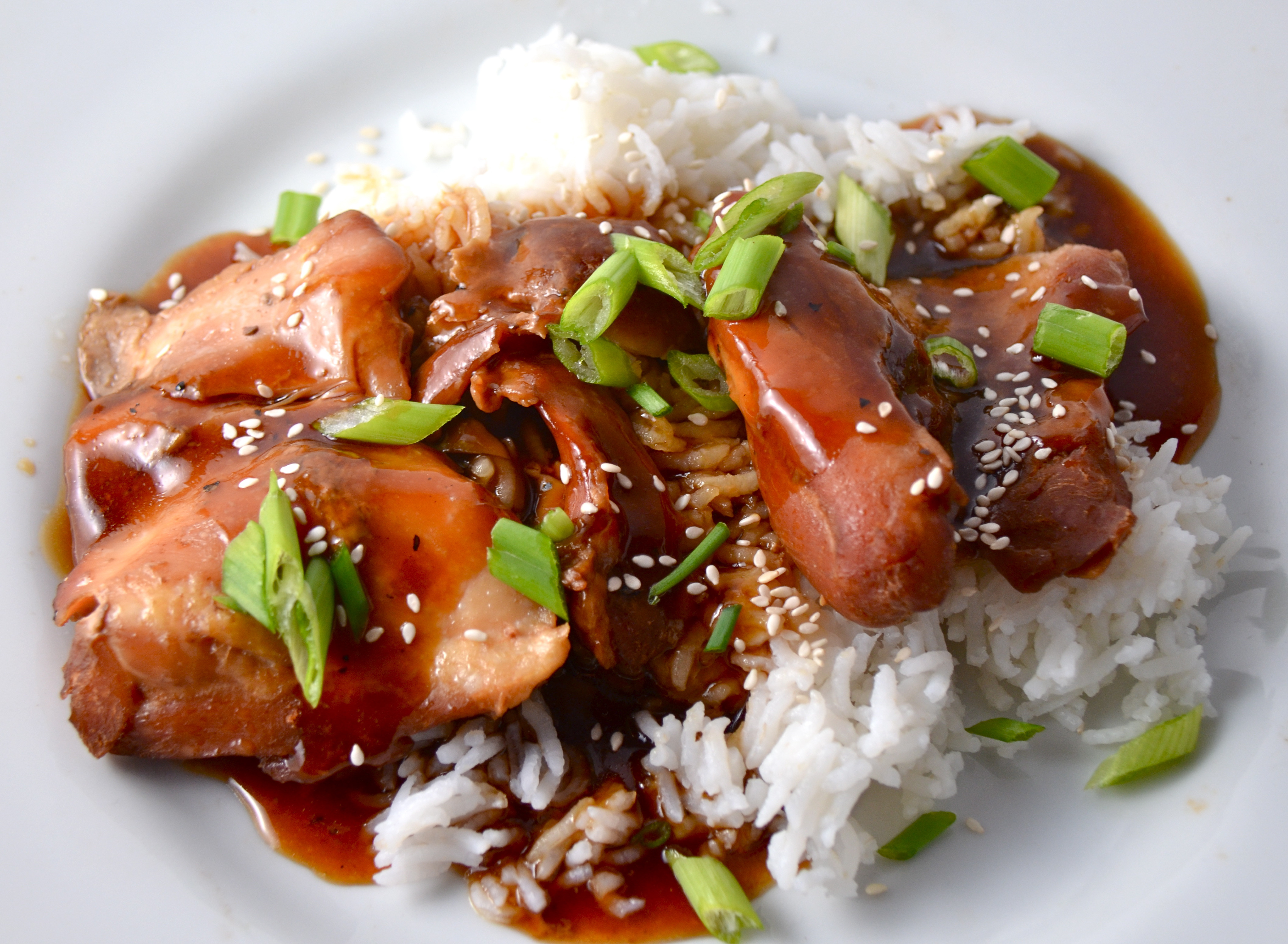 Slow Cooker Teriyaki Chicken Thighs  Slow Cooker Teriyaki Chicken Beginning The Week With Huck