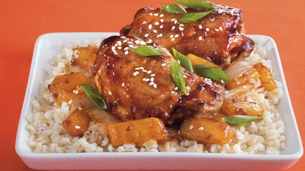 Slow Cooker Teriyaki Chicken Thighs  Teriyaki Chicken Thighs recipe from Pillsbury