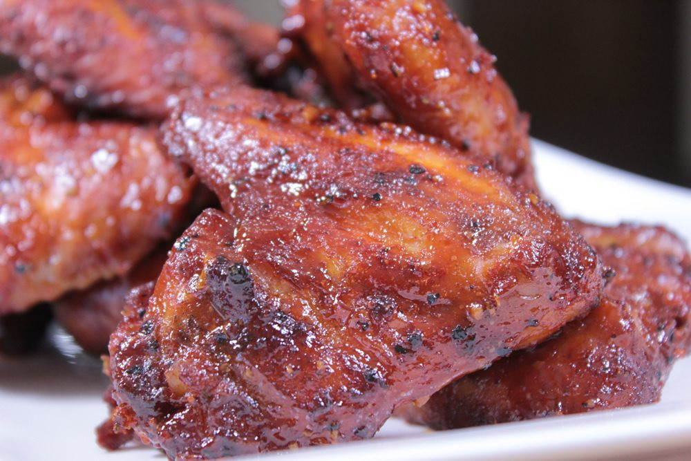 Smoked Chicken Wings Electric Smoker  Pecan Smoked Chicken Wings with Honey & Beer Barbecue Sauce