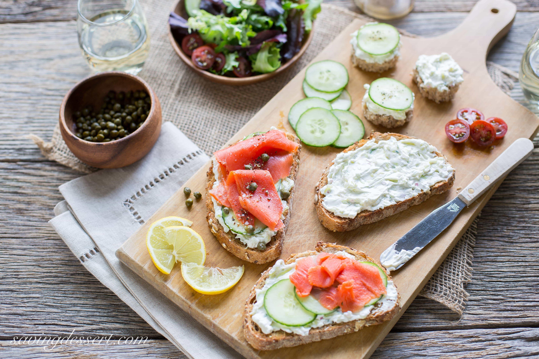 Smoked Salmon Cream Cheese  Smoked Salmon & Cucumber Cream Cheese Appetizers Saving