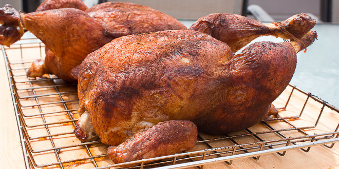Smoked Whole Chicken  How to Smoke a Whole Chicken in the Bradley Electric Smoker