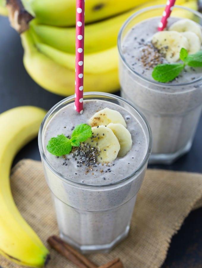 Smoothie Recipes Without Yogurt  banana oatmeal smoothie without yogurt