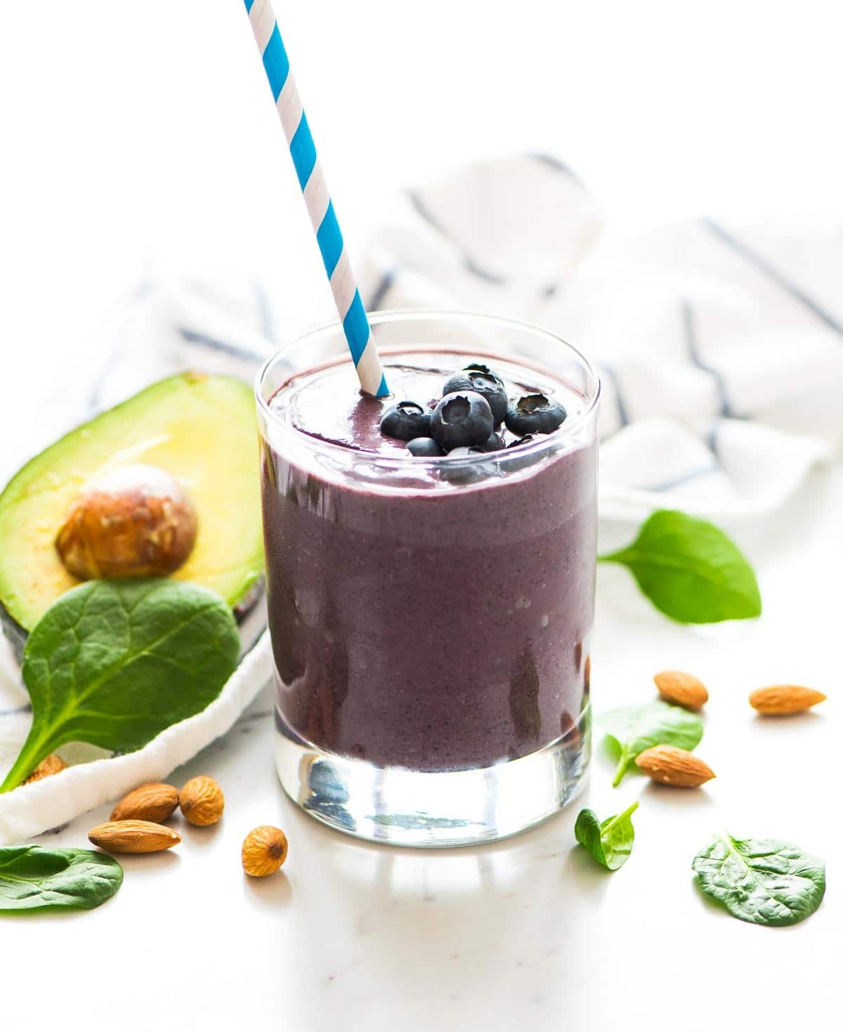 Smoothies With Avocado  Blueberry Banana Avocado Smoothie Recipe for Glowing Skin