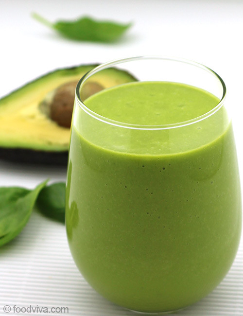 Smoothies With Avocado  Avocado Smoothie with Almond Milk Spinach and Orange
