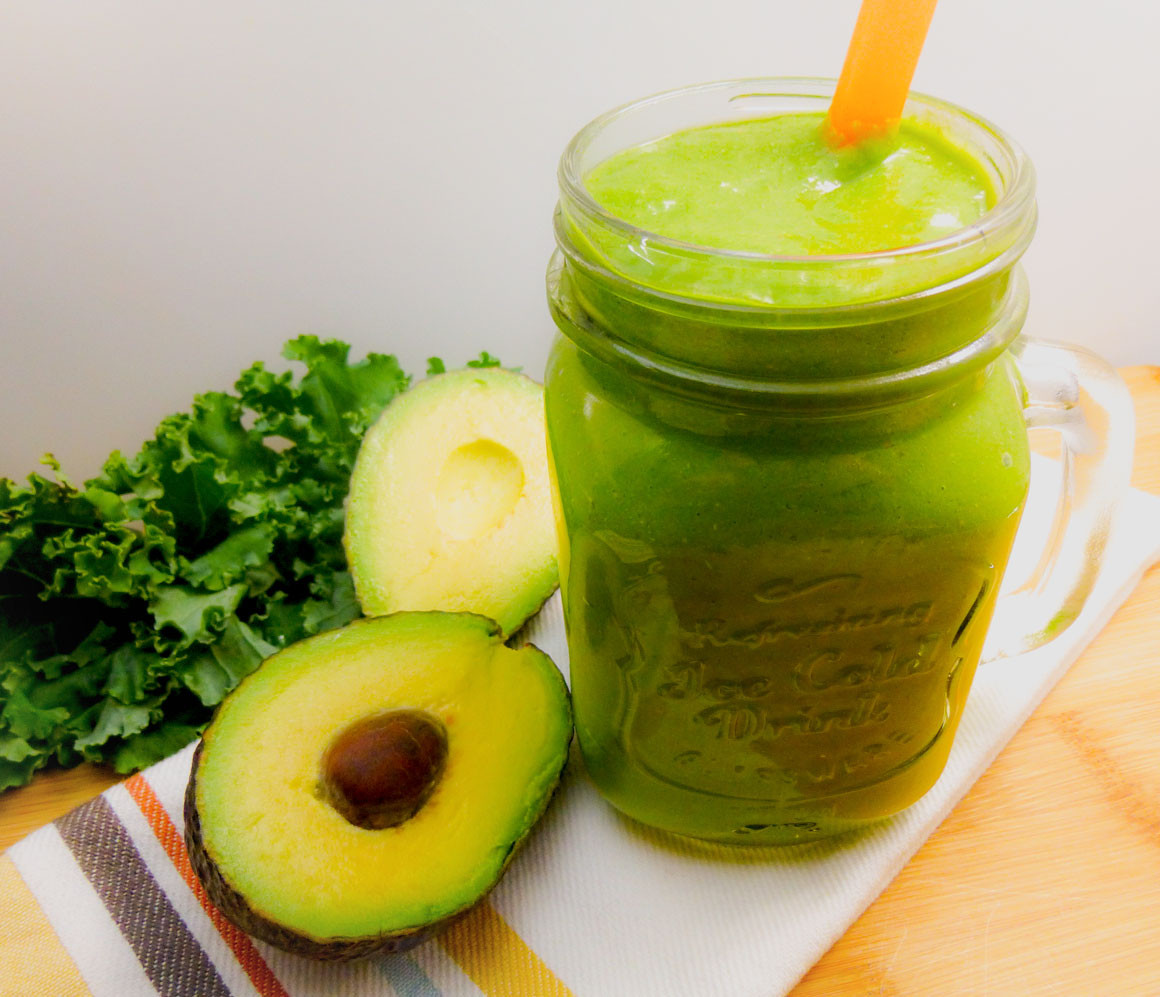 Smoothies With Avocado  Mango Avocado Green Smoothie