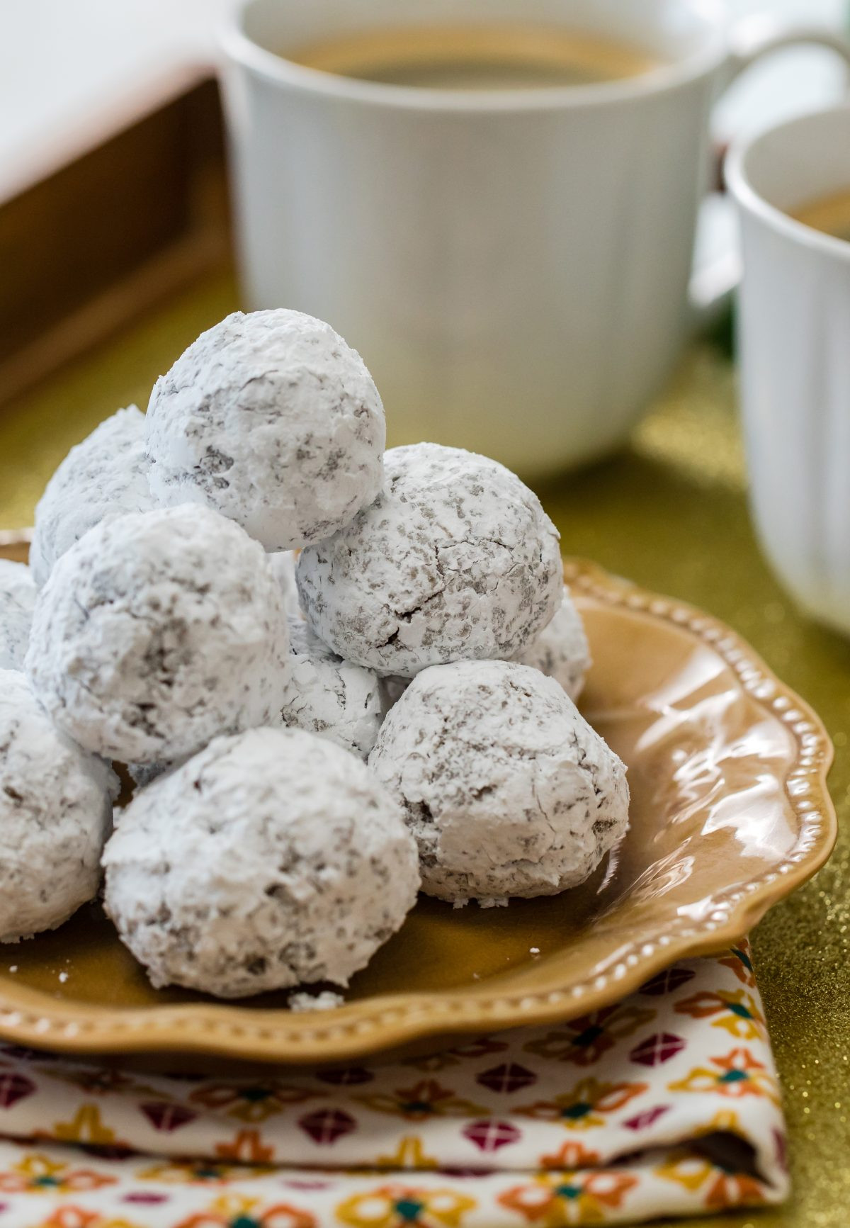 Snowball Cookies Recipe  Chocolate Kahlua snowball cookies Thanksgiving