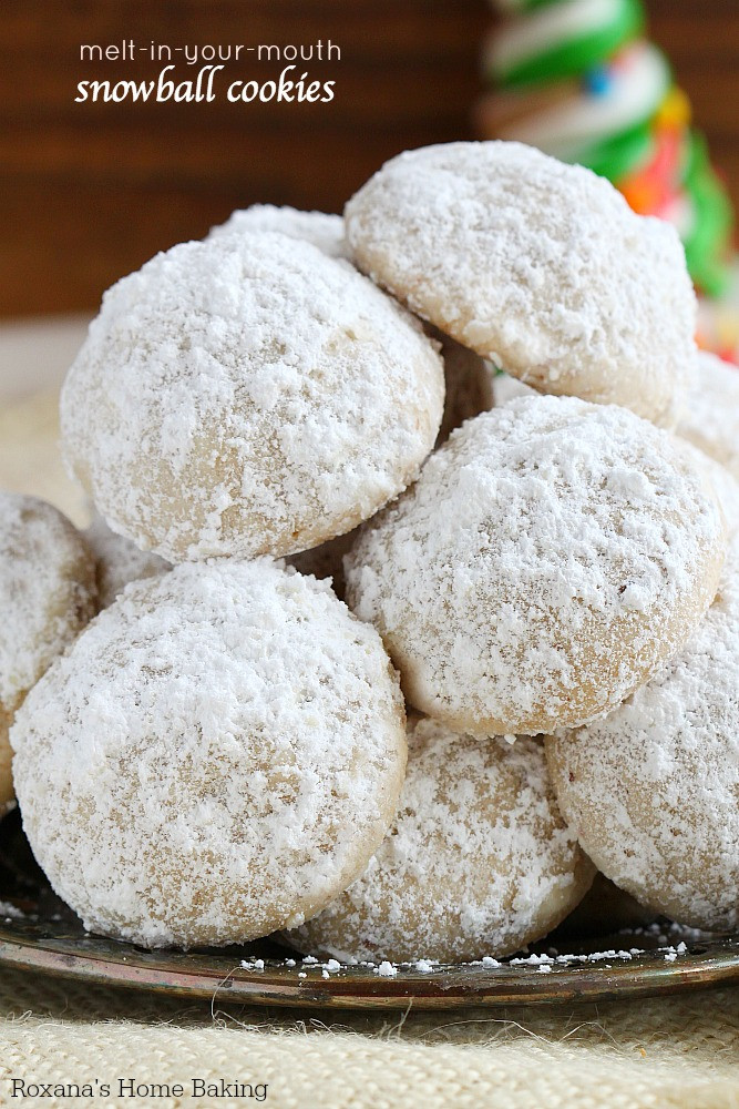 Snowball Cookies Recipe  Melt in your mouth snowball cookies